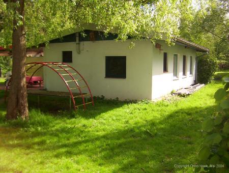 Die Nordseite des Ferienhauses in Worpswede